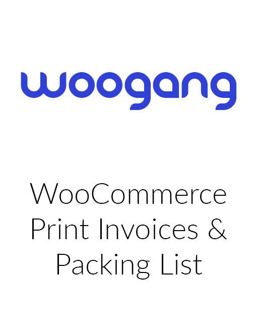 WooCommerce Print Invoices and Packing List