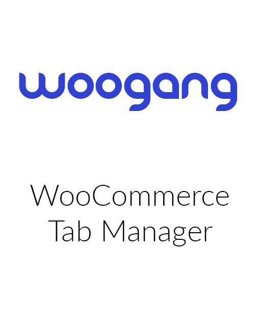 WooCommerce Tab Manager