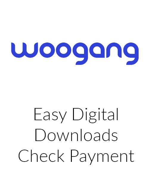 Easy Digital Downloads Check Payment